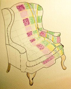 Reading Chair Sketch LR-1